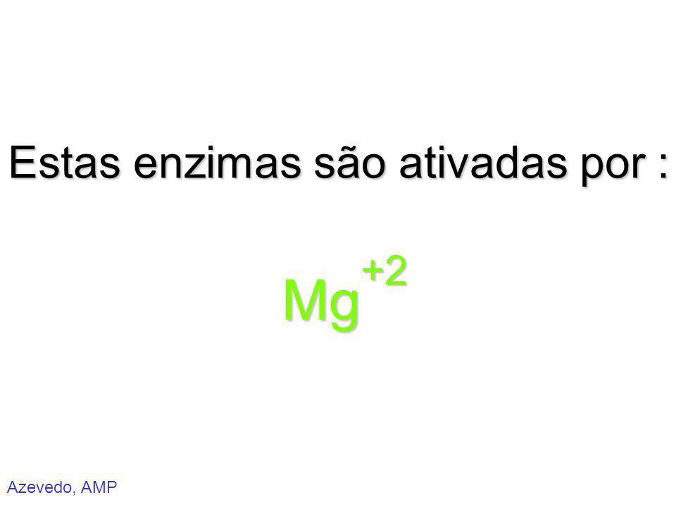 Azevedo, AMP Estas enzimas são ativadas por : Mg+2