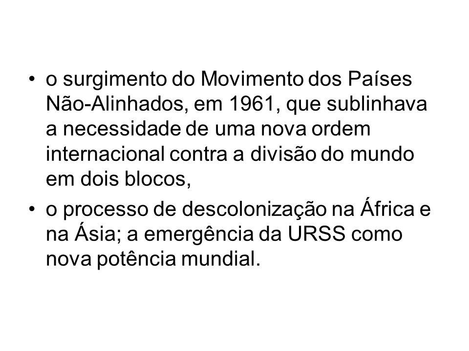 Tudo isso criou as condições necessárias para que o Brasil buscasse desenhar as linhas-guia de uma nova política externa, mais autônoma.