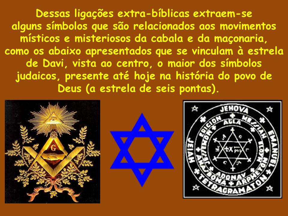 Dessas ligações extra-bíblicas extraem-se alguns símbolos que são relacionados aos movimentos místicos e misteriosos da cabala e da maçonaria, como os