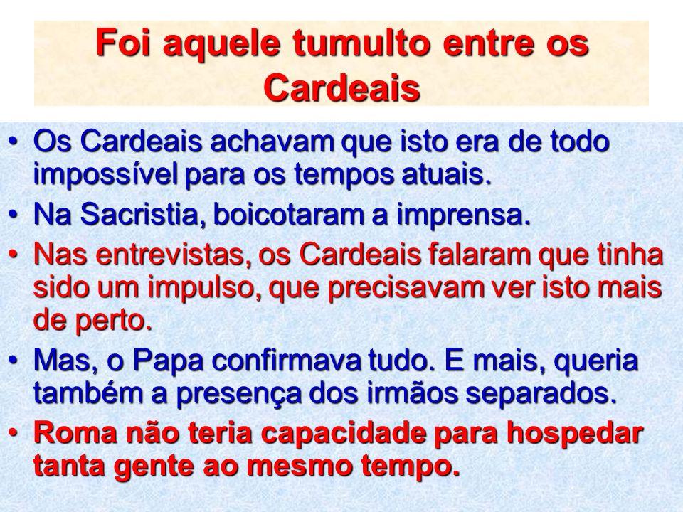 Papa nomeou oito Comissões preparatórias Colocou à frente dos trabalhos os Cardeais da Cúria Romana.Colocou à frente dos trabalhos os Cardeais da Cúria Romana.