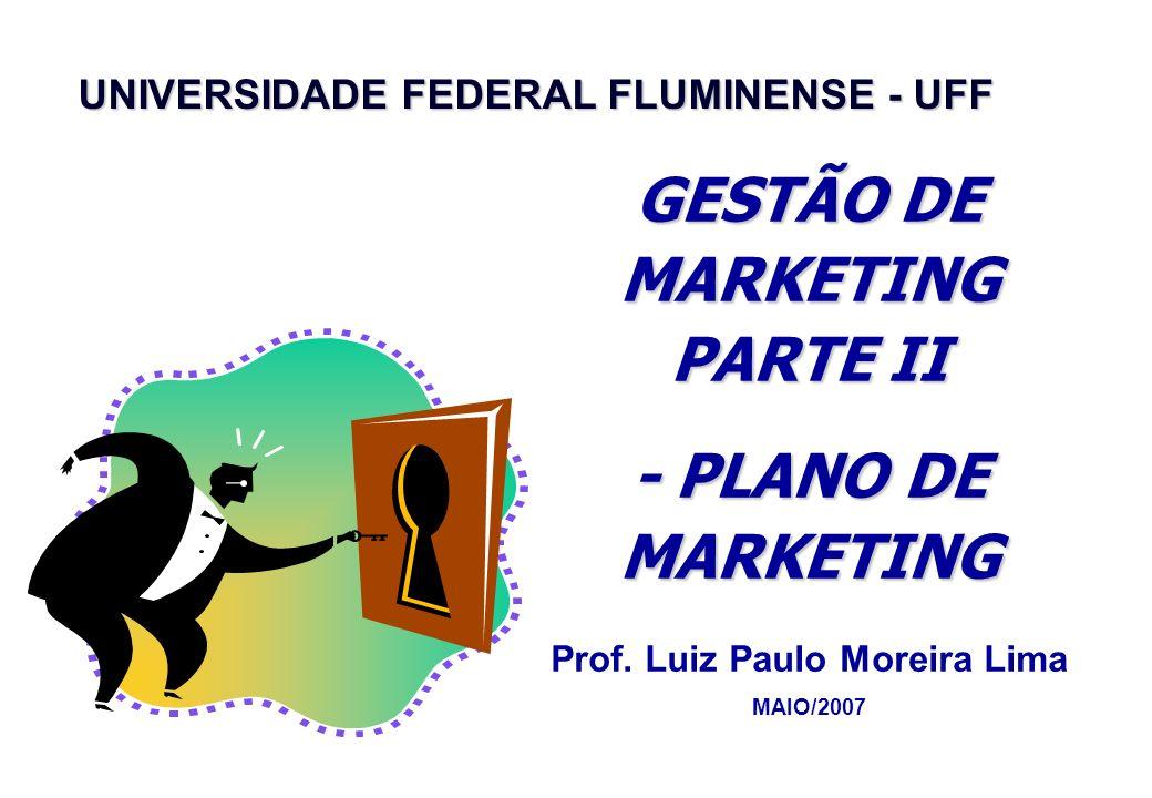 UNIVERSIDADE FEDERAL FLUMINENSE - UFF GESTÃO DE MARKETING PARTE II - PLANO DE MARKETING Prof.