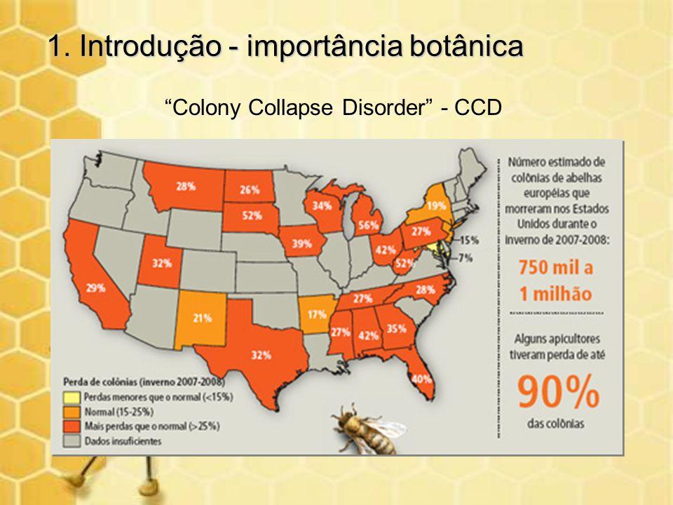 1. Introdução - importância botânica Colony Collapse Disorder - CCD