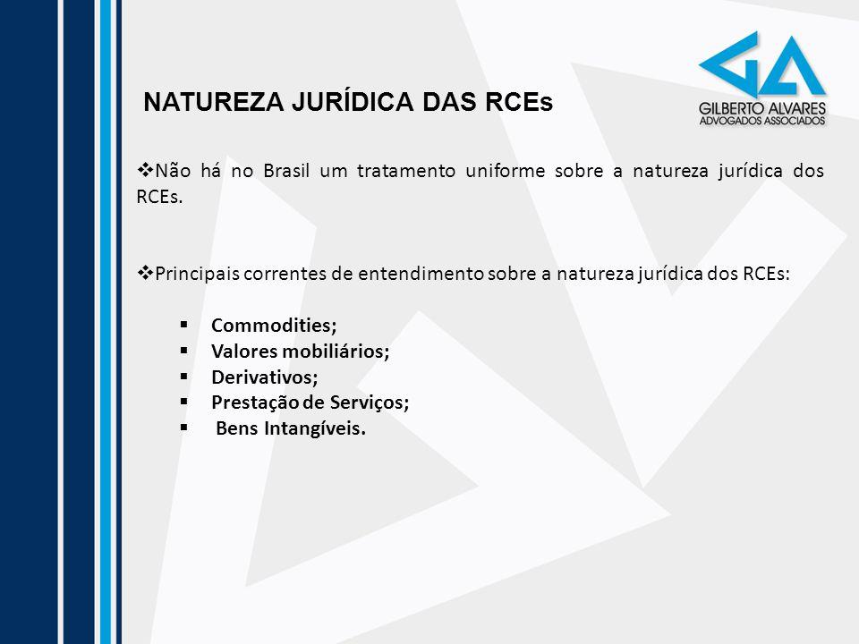 NATUREZA JURÍDICA DAS RCEs Não há no Brasil um tratamento uniforme sobre a natureza jurídica dos RCEs. Principais correntes de entendimento sobre a na