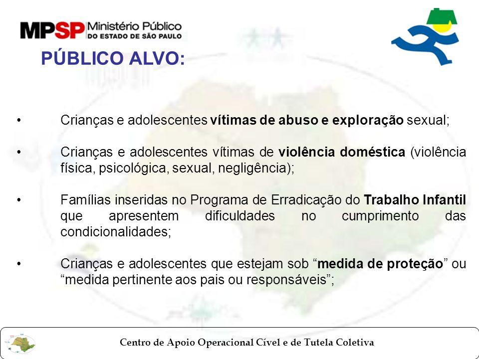 Centro de Apoio Operacional Cível e de Tutela Coletiva Crianças e adolescentes vítimas de abuso e exploração sexual; Crianças e adolescentes vítimas d