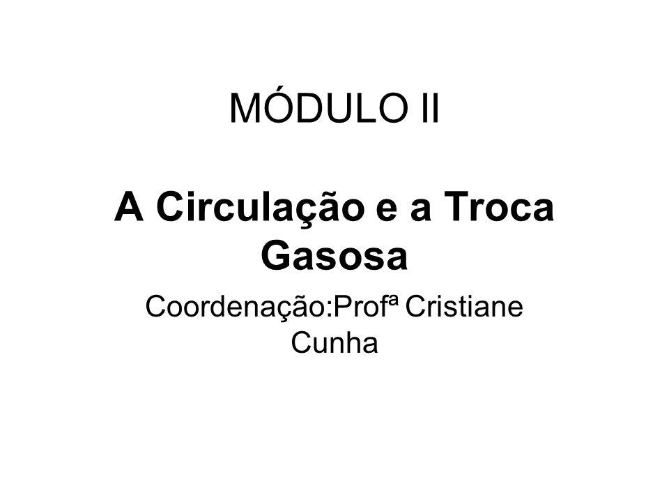 MÓDULO II A Circulação e a Troca Gasosa Coordenação:Profª Cristiane Cunha