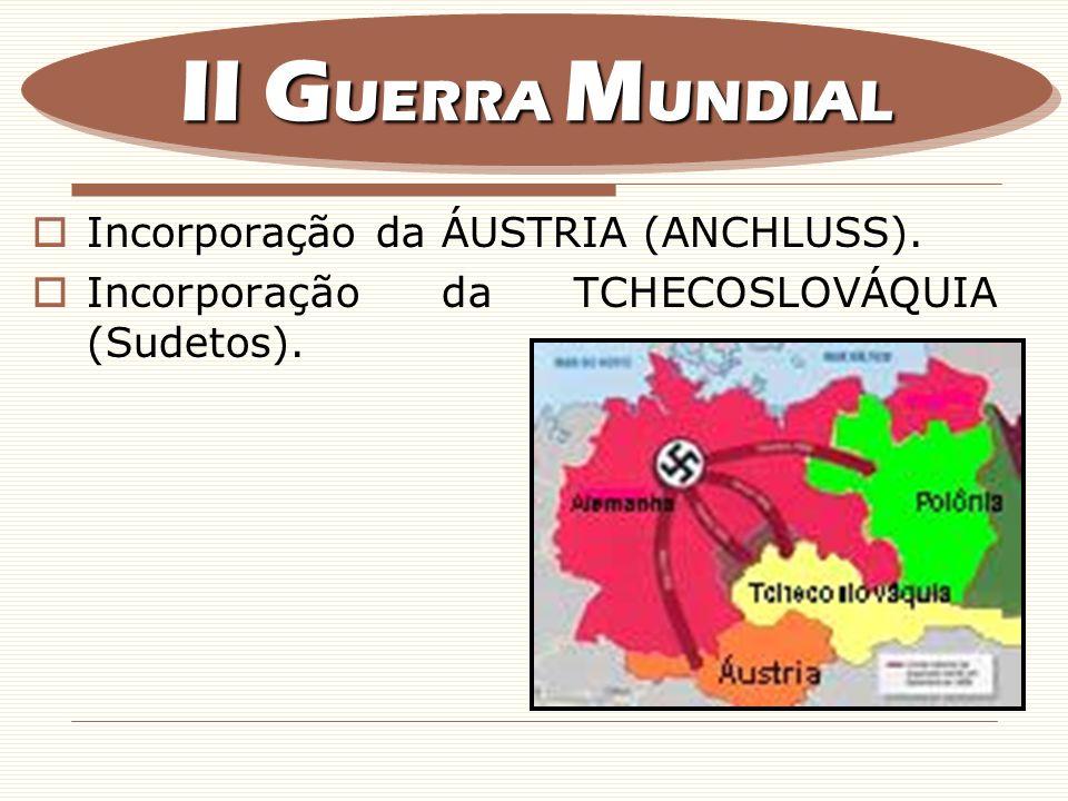 F.Formação do EIXO (Roma + Berlim + Tóquio) – Pacto ANTIKOMINTERN (Anticomunismo).