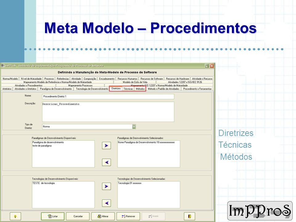 www.cin.ufpe.br/~imppros Meta Modelo – Atividade x Artefatos Um artefato pode ser de entrada para apenas uma atividade.