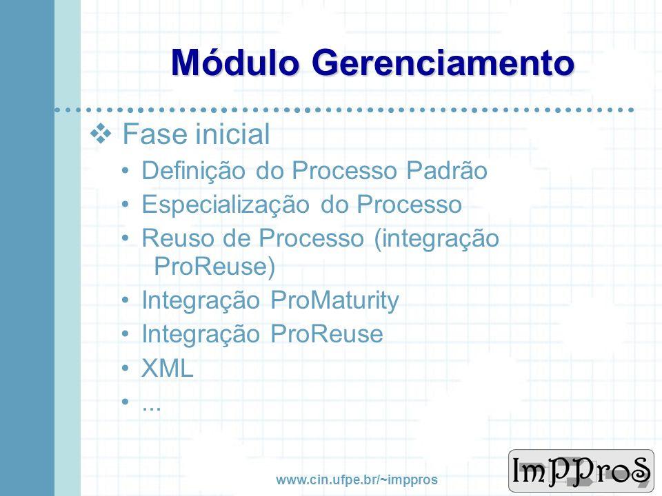 www.cin.ufpe.br/~imppros Modelo Ciclo Vida