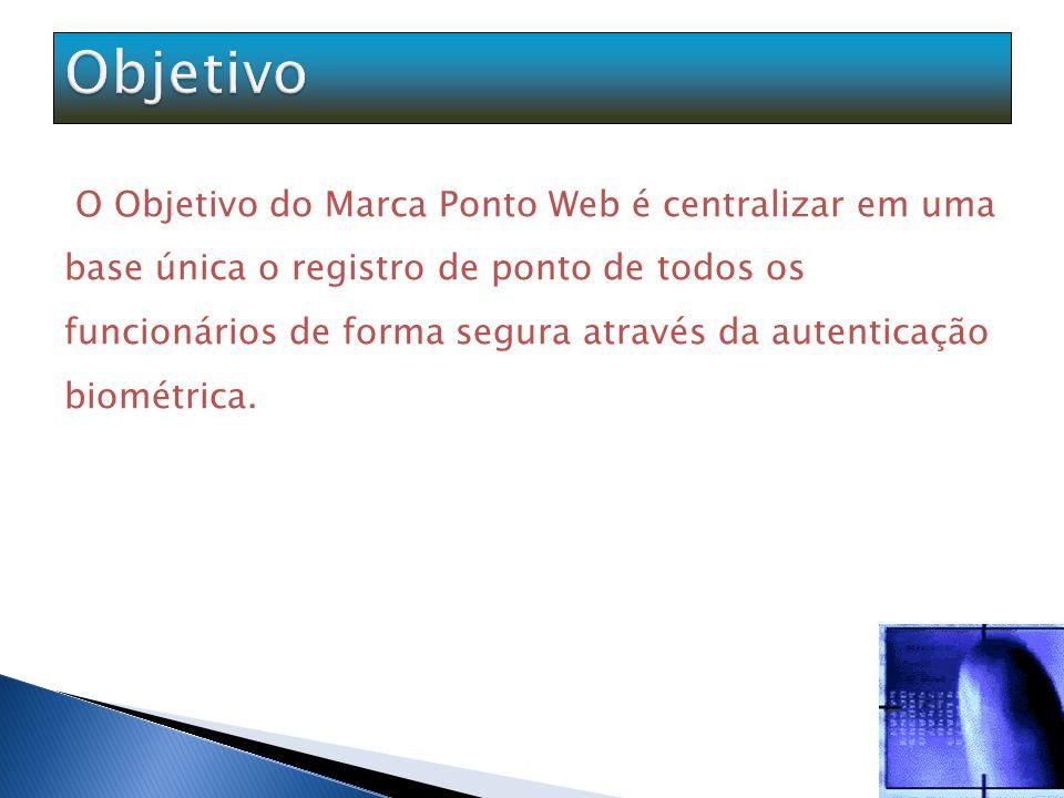 O Marca Ponto é um sistema totalmente via web para controle de entrada e saída de funcionários da empresa, através da simulação de um relógio ponto virtual, com autenticação biométrica (impressão digital).
