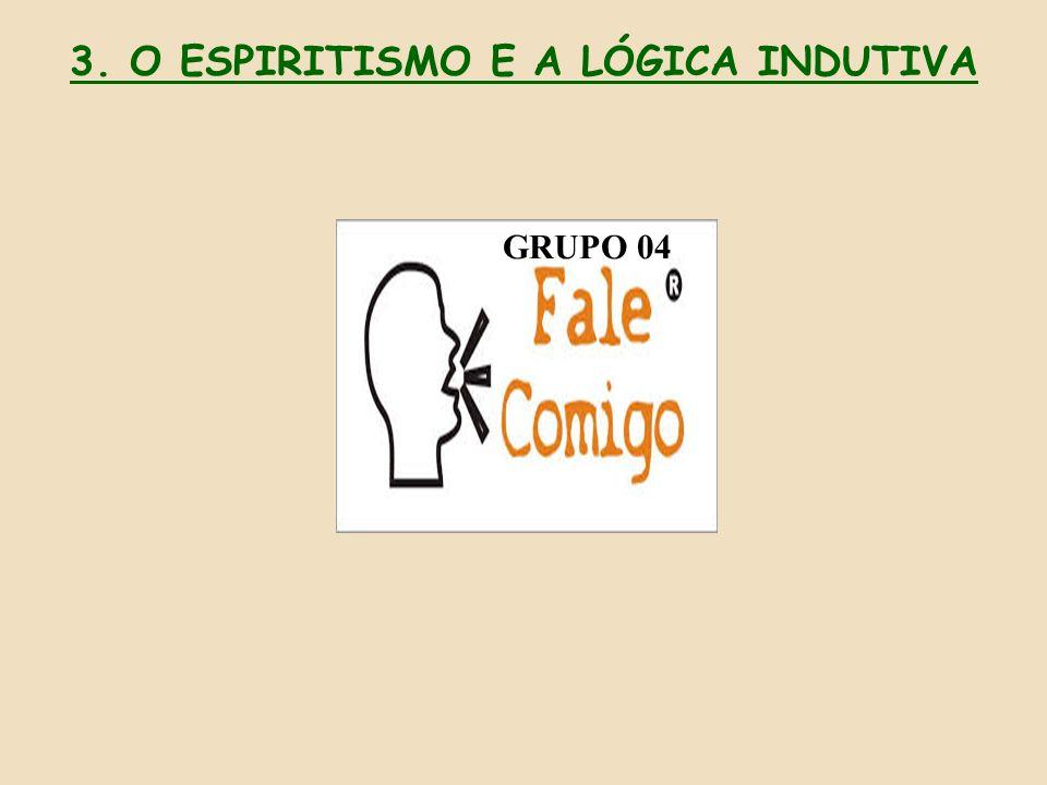 GRUPO 04 3. O ESPIRITISMO E A LÓGICA INDUTIVA