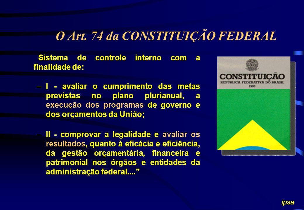 PROGRAMA GOVERNAMENTAL Instrumento de organização da ação governamental visando à concretização dos objetivos pretendidos, sendo mensurado por indicad