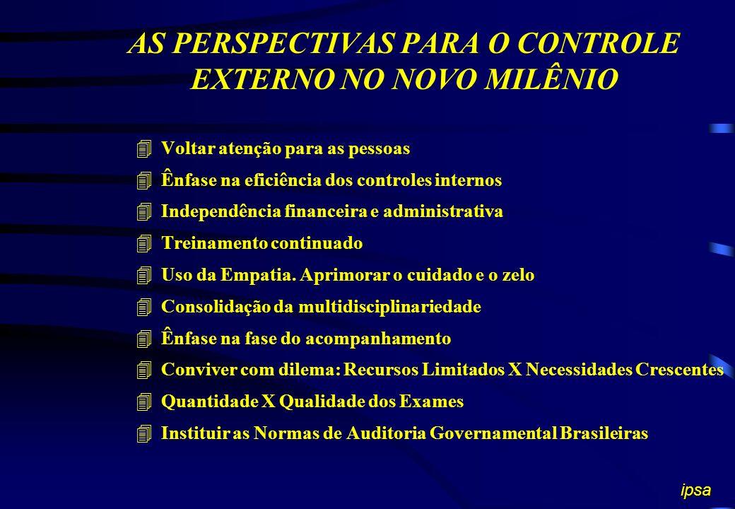 LIMITAÇÕES DO CONTROLE EXTERNO 4Falta de uniformidade na aplicação da prática da metodologia moderna em auditoria 4Deficiências de controle interno na