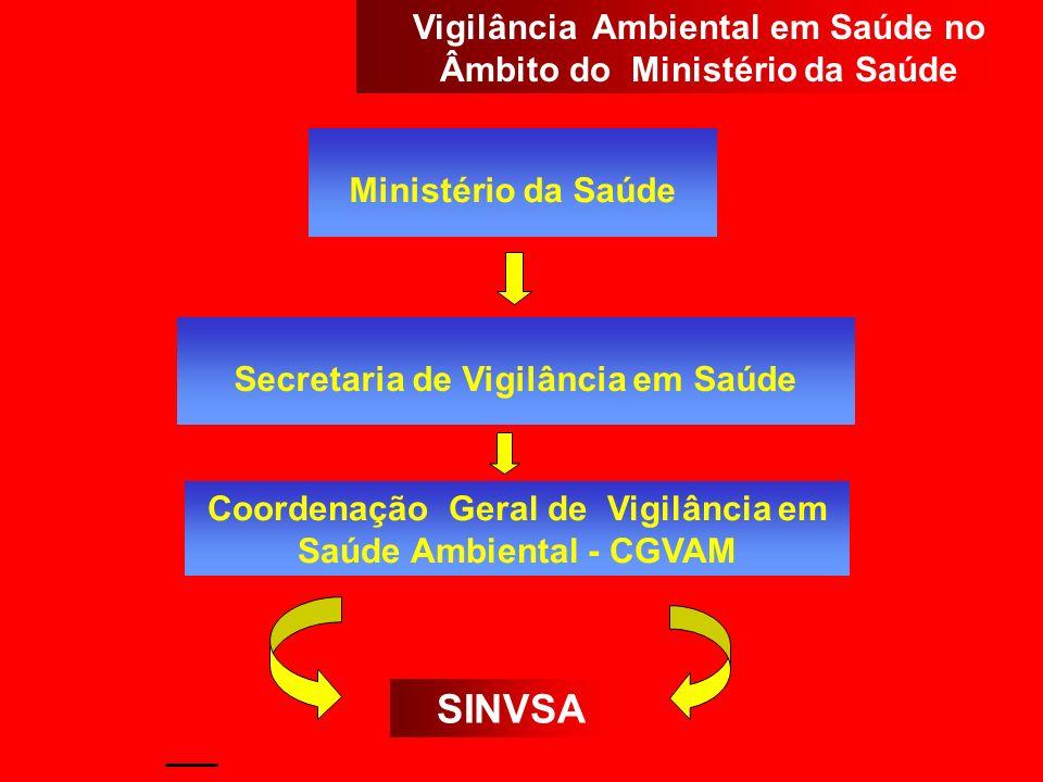Ministério da Saúde Secretaria de Vigilância em Saúde Coordenação Geral de Vigilância em Saúde Ambiental - CGVAM SINVSA Vigilância Ambiental em Saúde