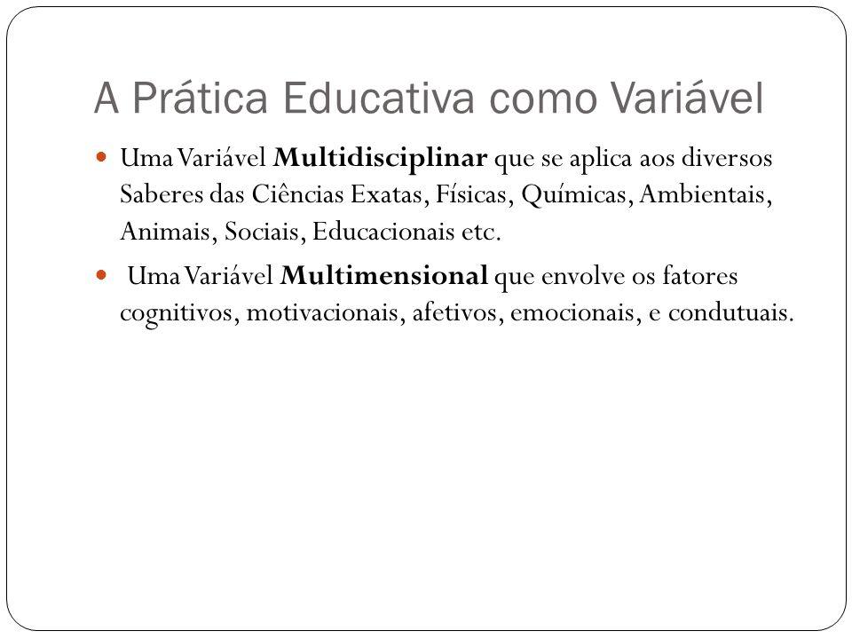 A Prática Educativa como Variável Uma Variável Multidisciplinar que se aplica aos diversos Saberes das Ciências Exatas, Físicas, Químicas, Ambientais,