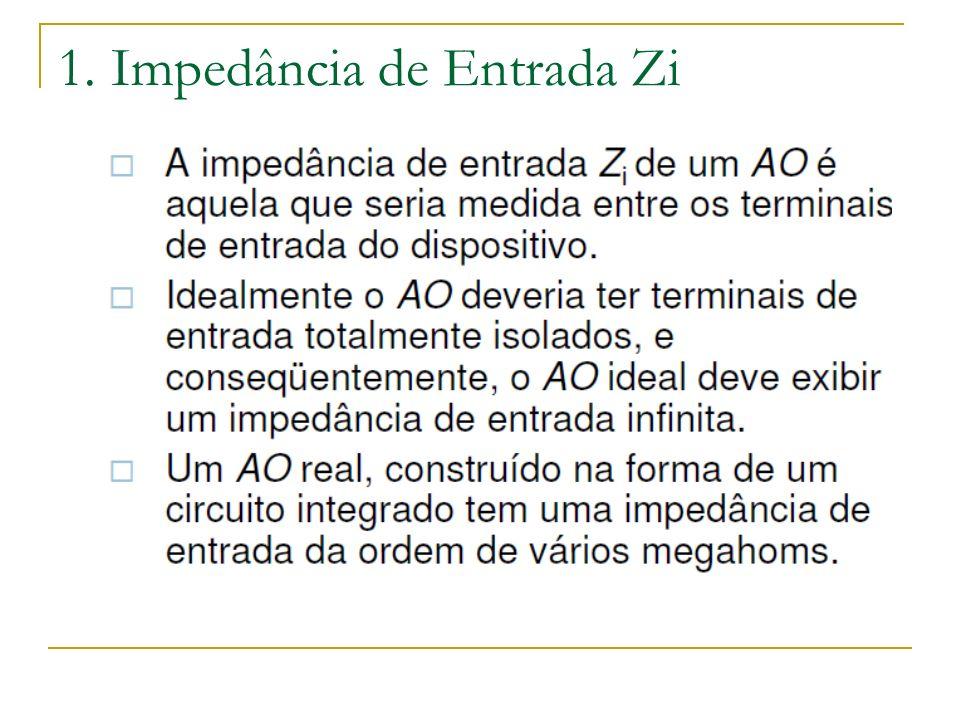 1. Impedância de Entrada Zi