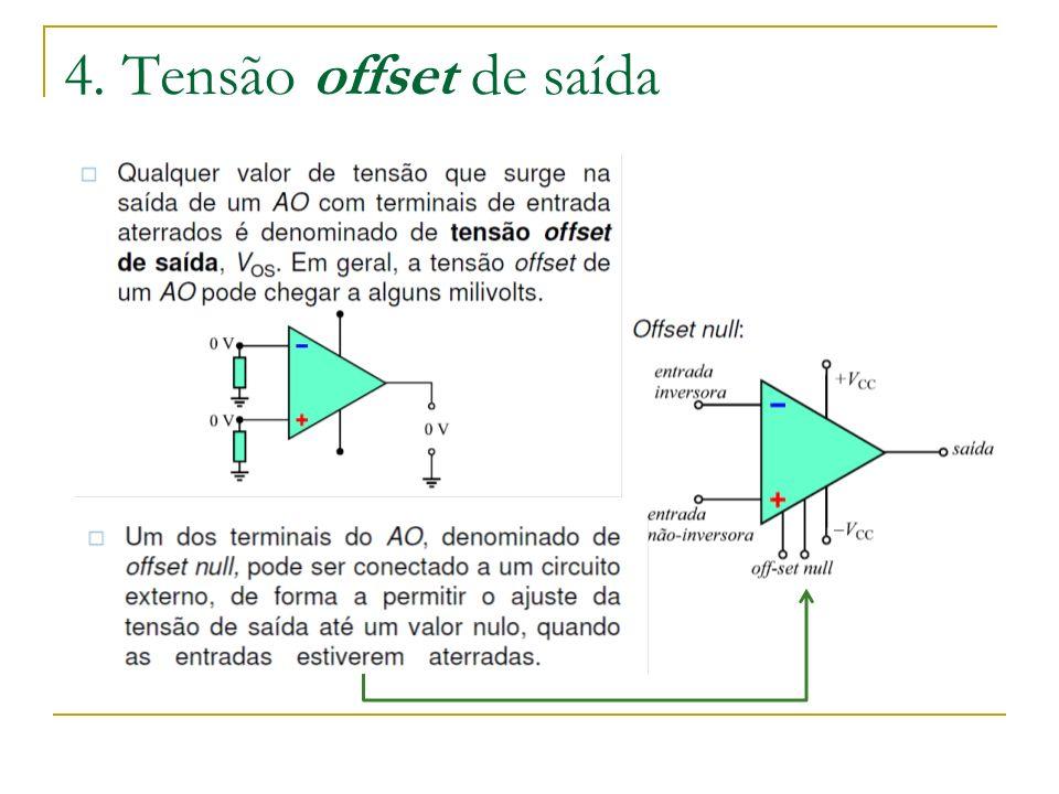 4. Tensão offset de saída