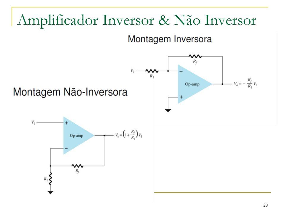 Amplificador Inversor & Não Inversor 29