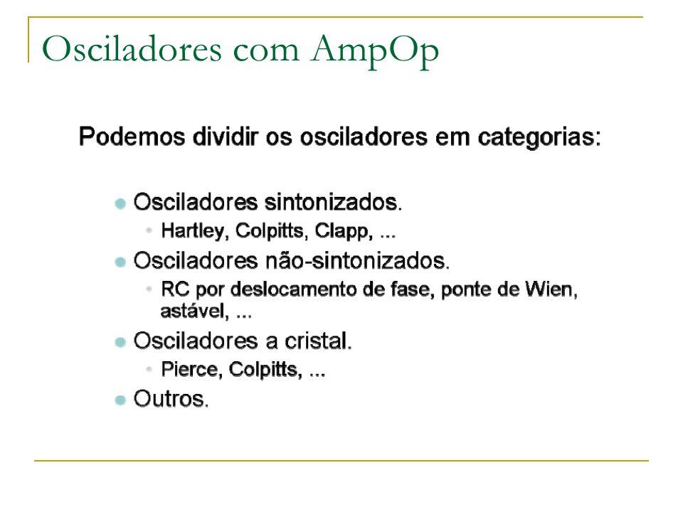 Osciladores com AmpOp