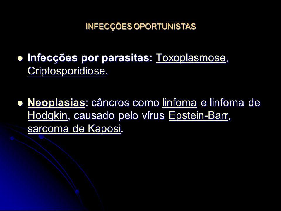 INFECÇÕES OPORTUNISTAS Infecções por parasitas: Toxoplasmose, Criptosporidiose. Infecções por parasitas: Toxoplasmose, Criptosporidiose.Toxoplasmose C