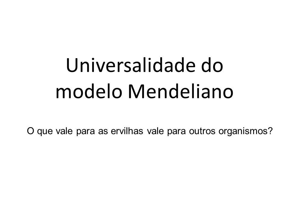 Universalidade do modelo Mendeliano O que vale para as ervilhas vale para outros organismos?