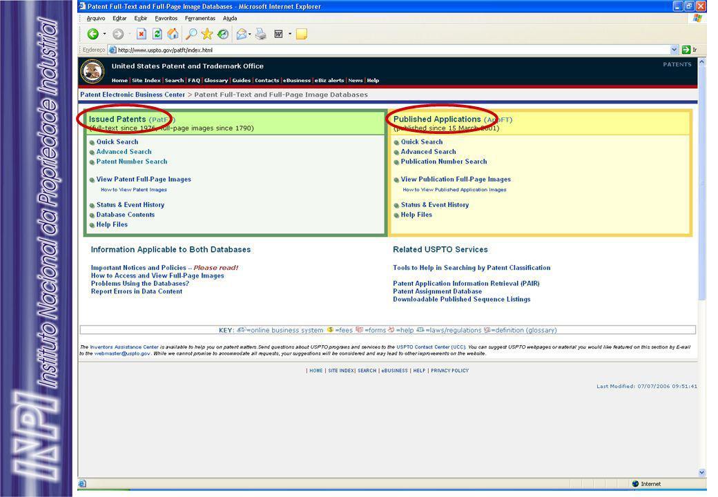 Busca de Patentes - Revisão Bancos de dados comerciais Dialog permite acesso a cerca de 600 bases de dados.