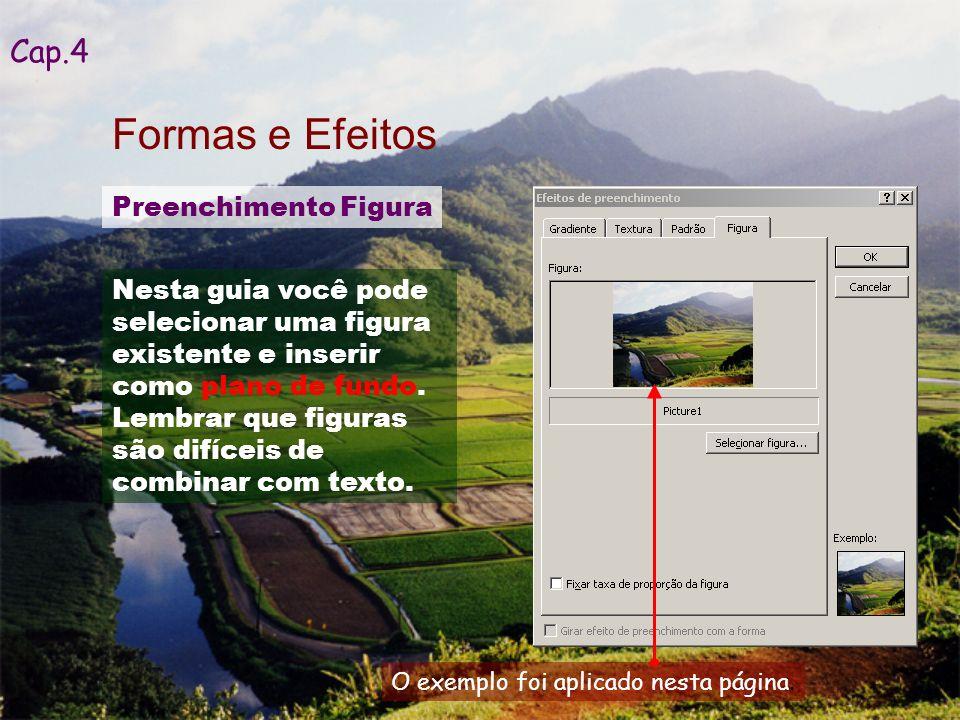 Outros efeitos, como animações, composições, transições, entre outros, podem ser aplicados.