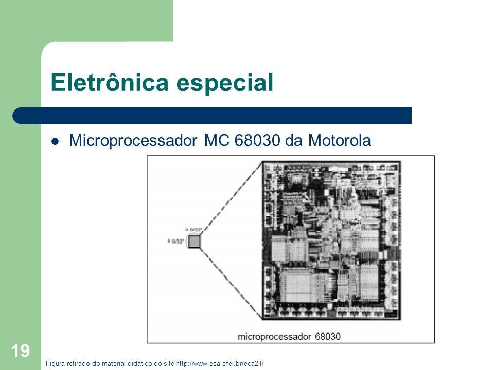 19 Eletrônica especial Microprocessador MC 68030 da Motorola Figura retirado do material didático do site http://www.eca.efei.br/eca21/