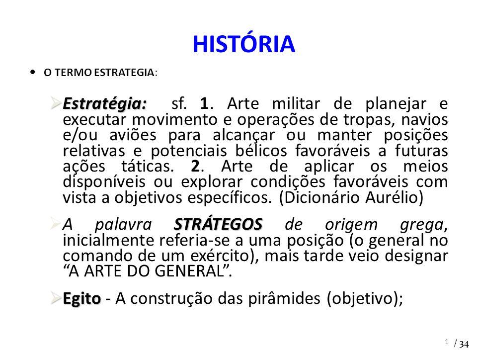 O TERMO ESTRATEGIA: Estratégia: Estratégia: sf. 1. Arte militar de planejar e executar movimento e operações de tropas, navios e/ou aviões para alcanç