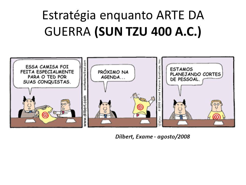 Estratégia enquanto ARTE DA GUERRA (SUN TZU 400 A.C.) Dilbert, Exame - agosto/2008