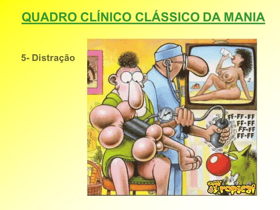QUADRO CLÍNICO CLÁSSICO DA MANIA 5- Distração