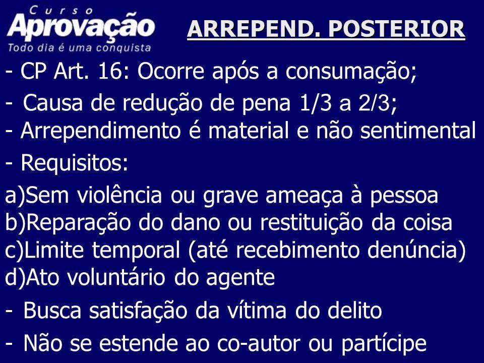ARREPEND.POSTERIOR - CP Art.