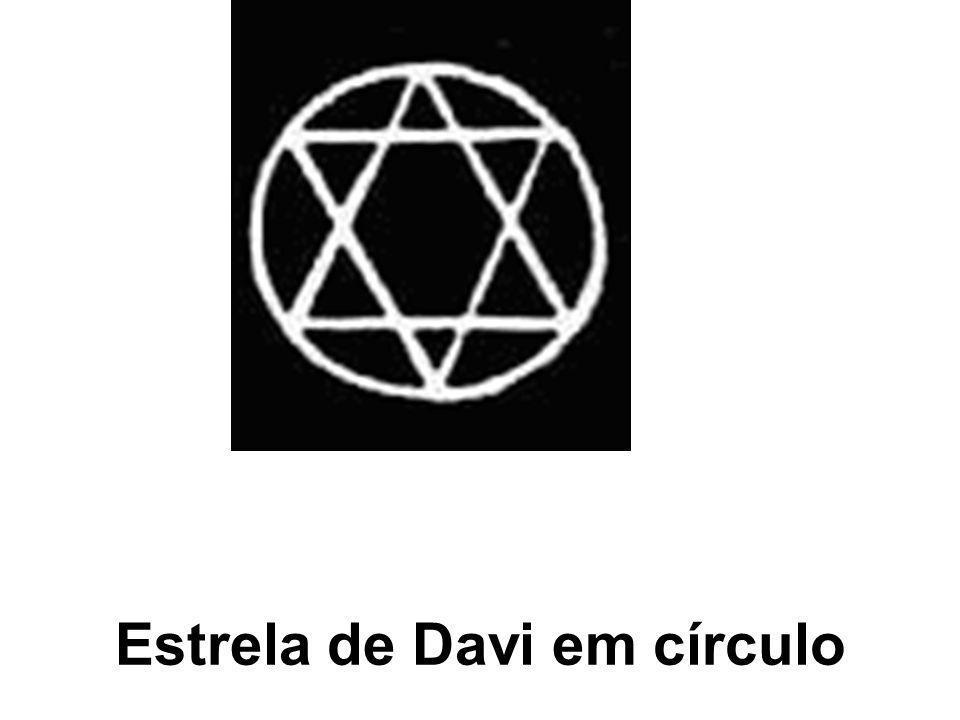 Estrela de Davi em círculo