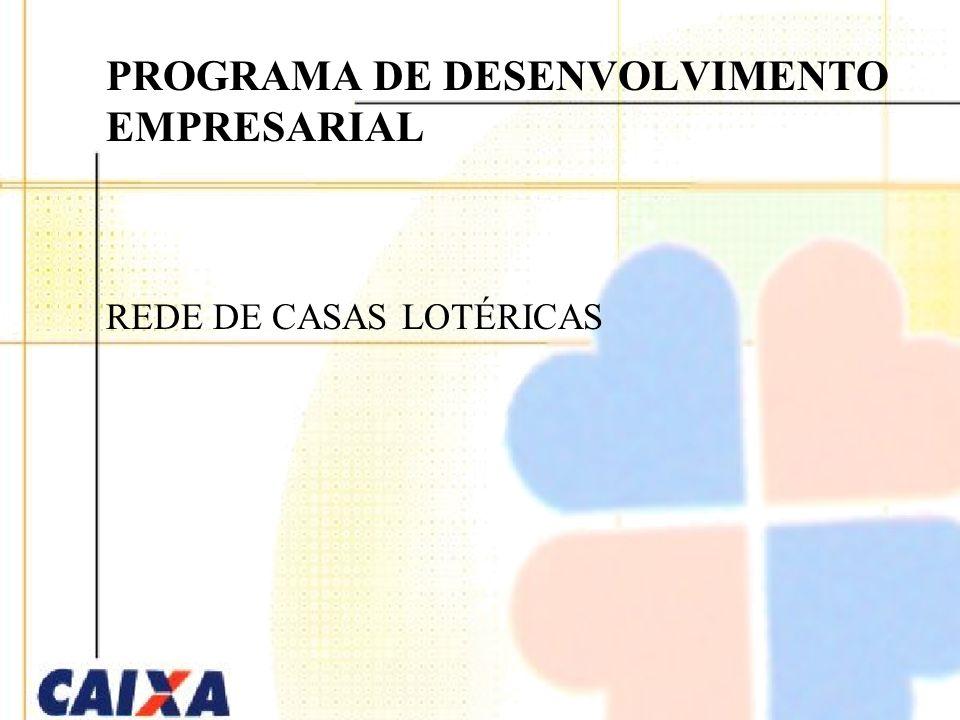 PROGRAMA DE DESENVOLVIMENTO EMPRESARIAL REDE DE CASAS LOTÉRICAS