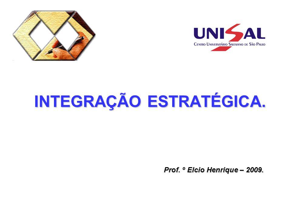 INTEGRAÇÃO ESTRATÉGICA. Prof. º Elcio Henrique – 2009.