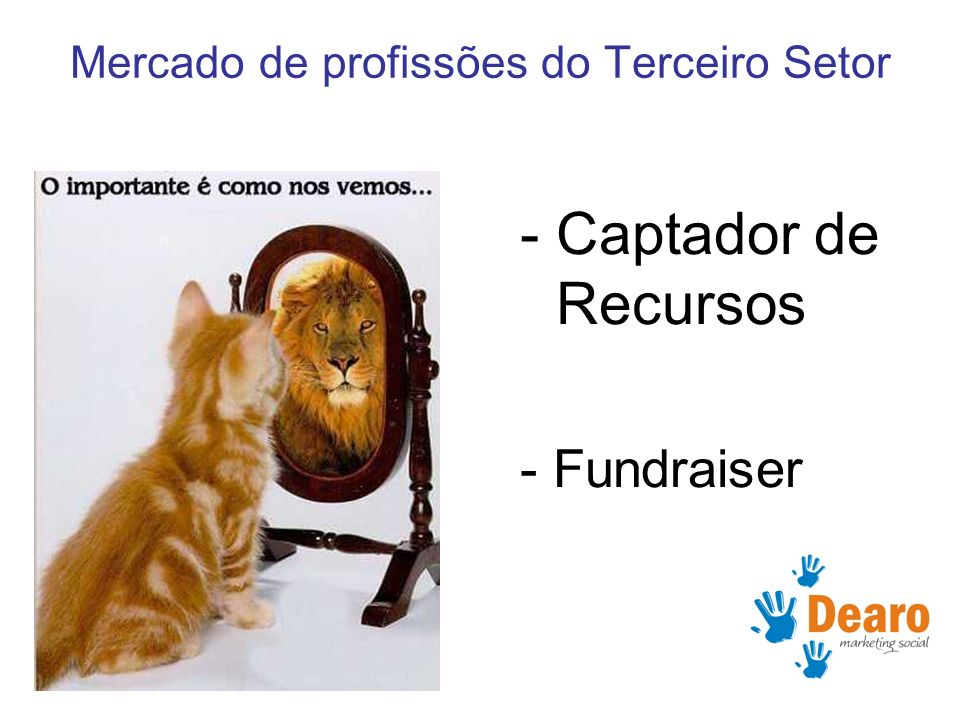www.dearo.com.br -Captador de Recursos - Fundraiser Mercado de profissões do Terceiro Setor