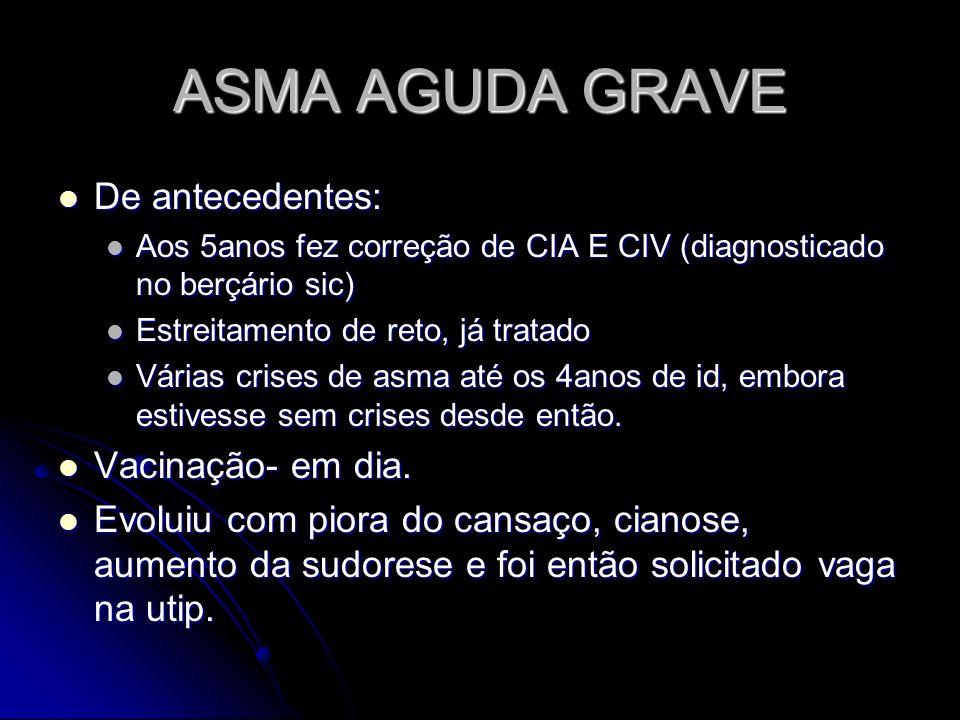 ASMA AGUDA GRAVE ASMA AGUDA GRAVE COMO EU COMPENSO.