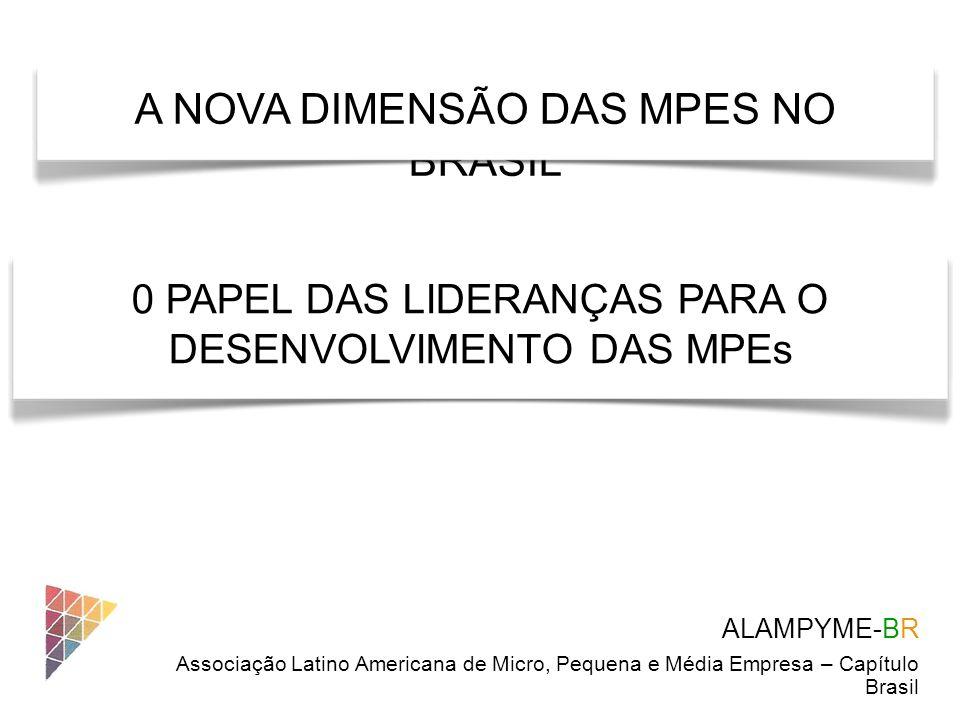 de Micro, Pequena e Média Empresa – Capítulo Brasil Alampyme Asociación Latinoamericana de Micros, Pequeños y Medianos Empresarios é uma associação da sociedade civil, sem fins de lucro, que congrega mais de 100 mil associados e atua em 13 países latino-americanos.