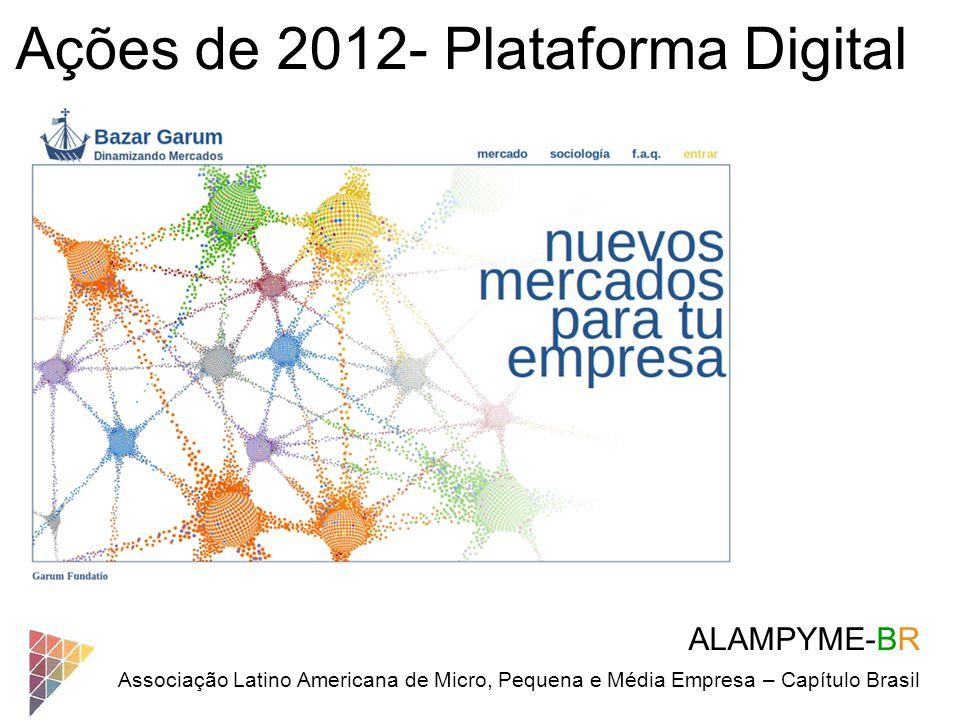 ALAMPYME-BR Associação Latino Americana de Micro, Pequena e Média Empresa – Capítulo Brasil Ações de 2012- Plataforma Digital