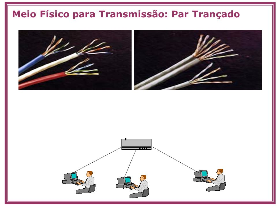 Meio Físico para Transmissão: Par Trançado