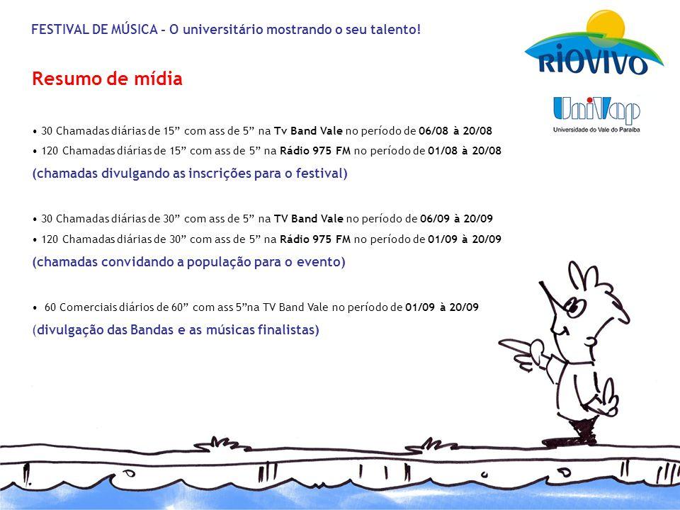 FESTIVAL DE MÚSICA - O universitário mostrando o seu talento.
