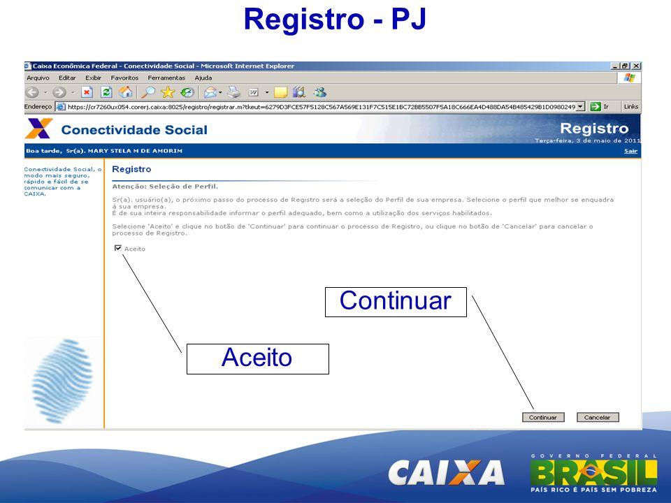 Registro - PJ Aceito Continuar