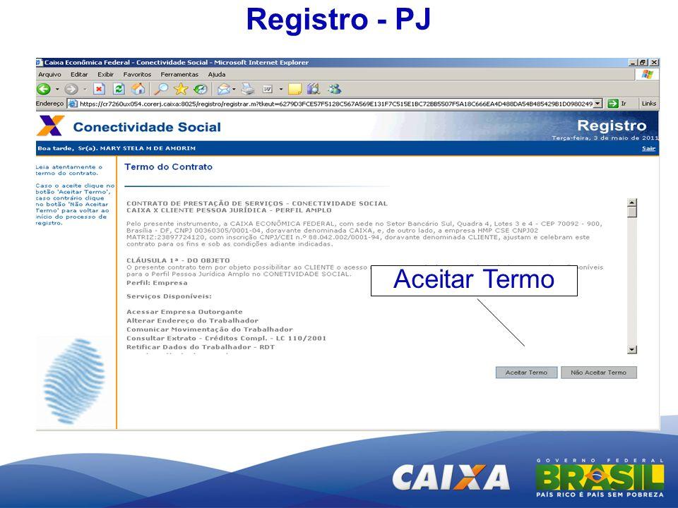 Registro - PJ Aceitar Termo