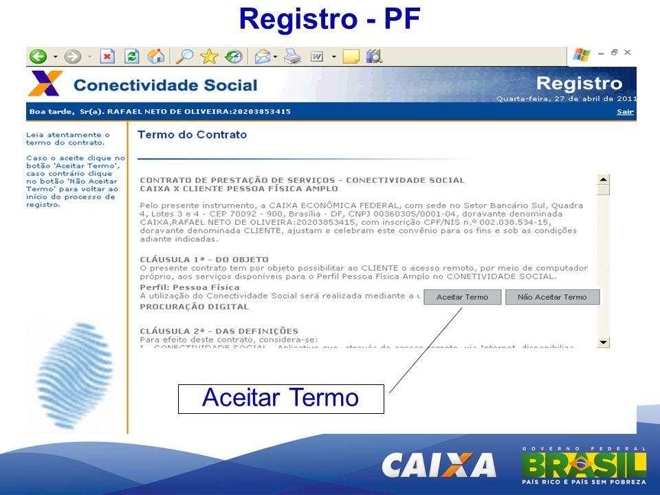Registro - PF Aceitar Termo