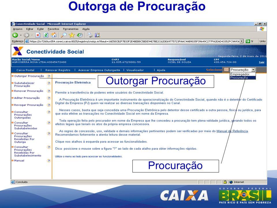 Outorga de Procuração Procuração Outorgar Procuração