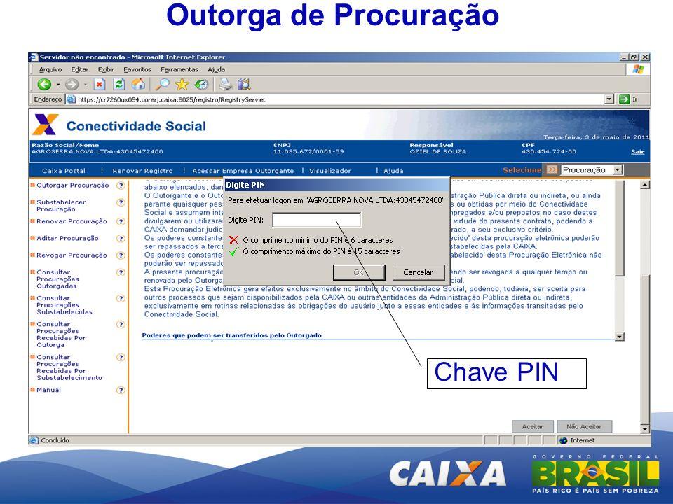 Chave PIN Outorga de Procuração