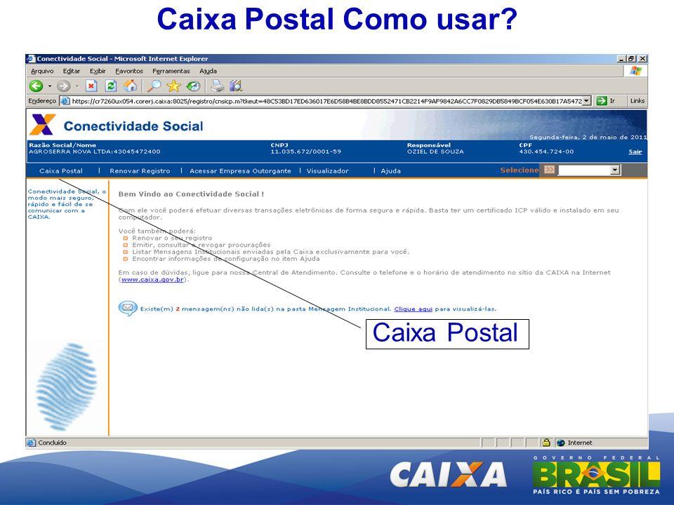 Caixa Postal Como usar? Caixa Postal
