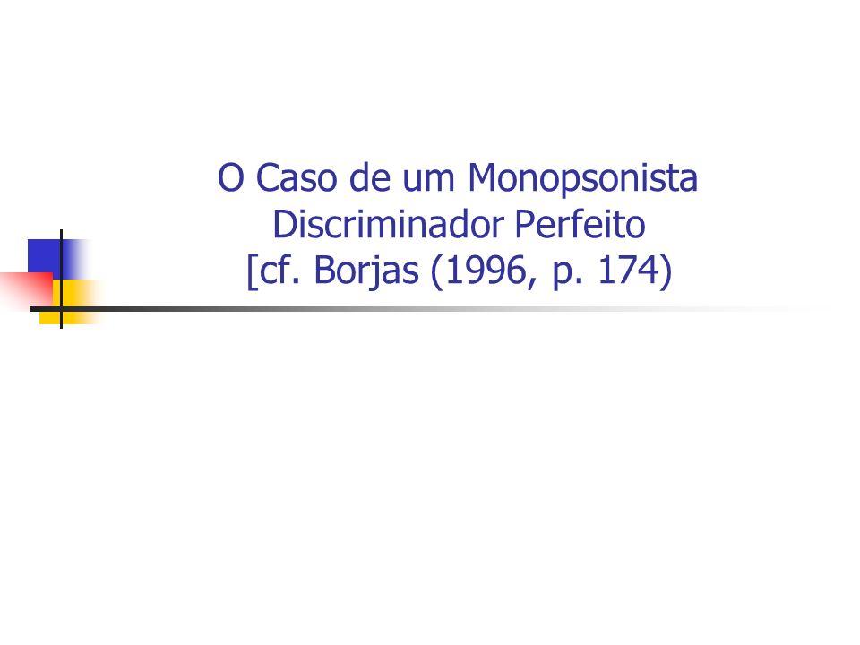 O Caso de um Monopsonista Discriminador Perfeito [cf. Borjas (1996, p. 174)