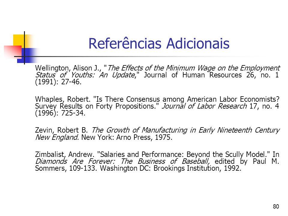80 Referências Adicionais Wellington, Alison J.,