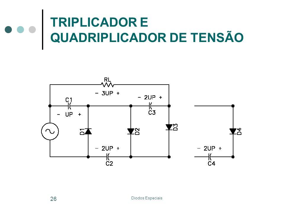 Diodos Especiais 26 TRIPLICADOR E QUADRIPLICADOR DE TENSÃO