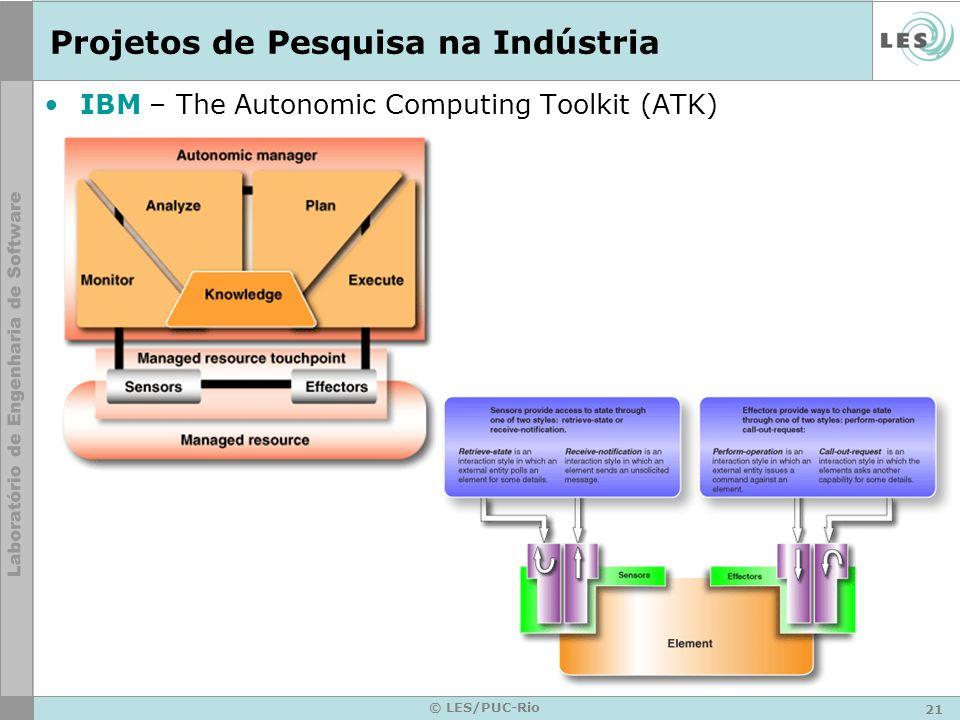 21 © LES/PUC-Rio Projetos de Pesquisa na Indústria IBM – The Autonomic Computing Toolkit (ATK)